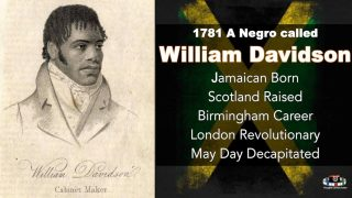 🇯🇲 1781 WILLIAM DAVIDSON CATO REBELLION JAMAICAN BORN SCOTLAND RAISED