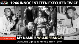 🇺🇸1946 WILLIE FRANCIS 16 YEAR OLD EXECUTED TWICE #LestWeForget 🌷
