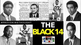 🇺🇸1969 THE BLACK 14 WYOMING AMERICA FOOTBALL PLAYERS PROTESTING MORMON