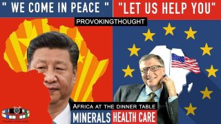 "AFRICA: ""WE COME IN PEACE"" (MINERALS) ""LET US HELP YOU"""
