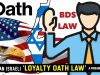 🇺🇸AMERICAN 🇮🇱ISRAELI 'LOYALTY OATH' LAW A FIREABLE OFFENSE