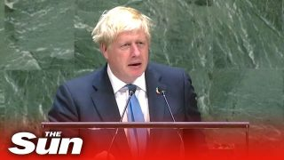 Boris Johnson's speech on Brexit, AI robots and chicken at
