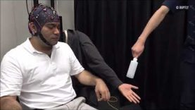 Dr. Penaloza controlling a third arm with a brain machine