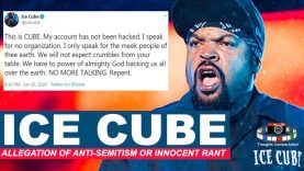 ICE CUBE TWITTER SEMITE ALLEGATIONS