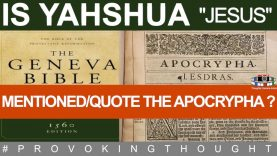 Is Yahshua mentioned in the Apocrypha? (don't get triggered) 😱😱