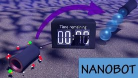 Nanobots: Delayed ignition and propulsion of catalytic microrockets