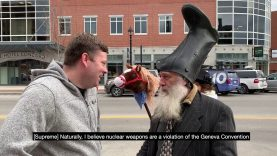 Vermin Supreme on nuclear weapons (February 2020)
