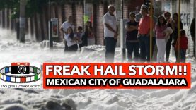 🇲🇽FREAK HAIL STORM!! Strikes Mexican City of Guadalajara JULY 1ST