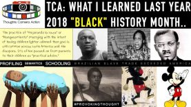 "TCA THROWBACK: WHAT I LEARNED LAST YEAR 2018 ""BLACK"" HISTORY"