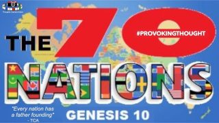 The 70 Nations Genesis 10: Every Nation Has A Founding