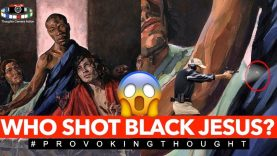 🇬🇧Who shot BLACK JESUS Nailsworth Church, England painting 'shot' with