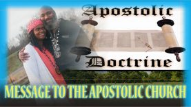 Message to the Apostolic Church. Repent concerning the name Jesus