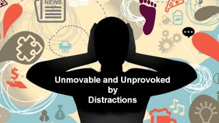 Unmovable and Unprovoked by distractions